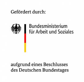 Logo Förderung durch Bundesministerium für Arbeit und Soziales